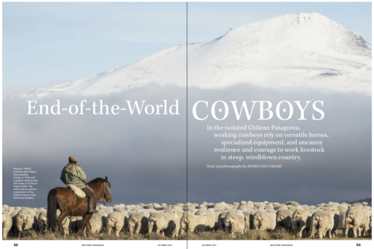 Western Horseman cowboys in Chile